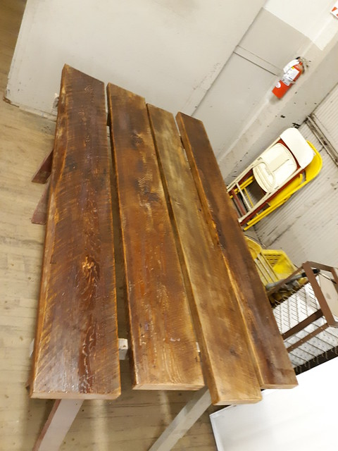 Hemlock Beam Bookshelves Aug 2019