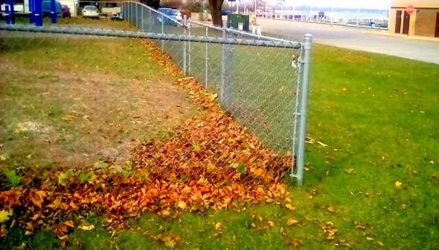 Autumn chain link fence - HFF Menominee Michigan