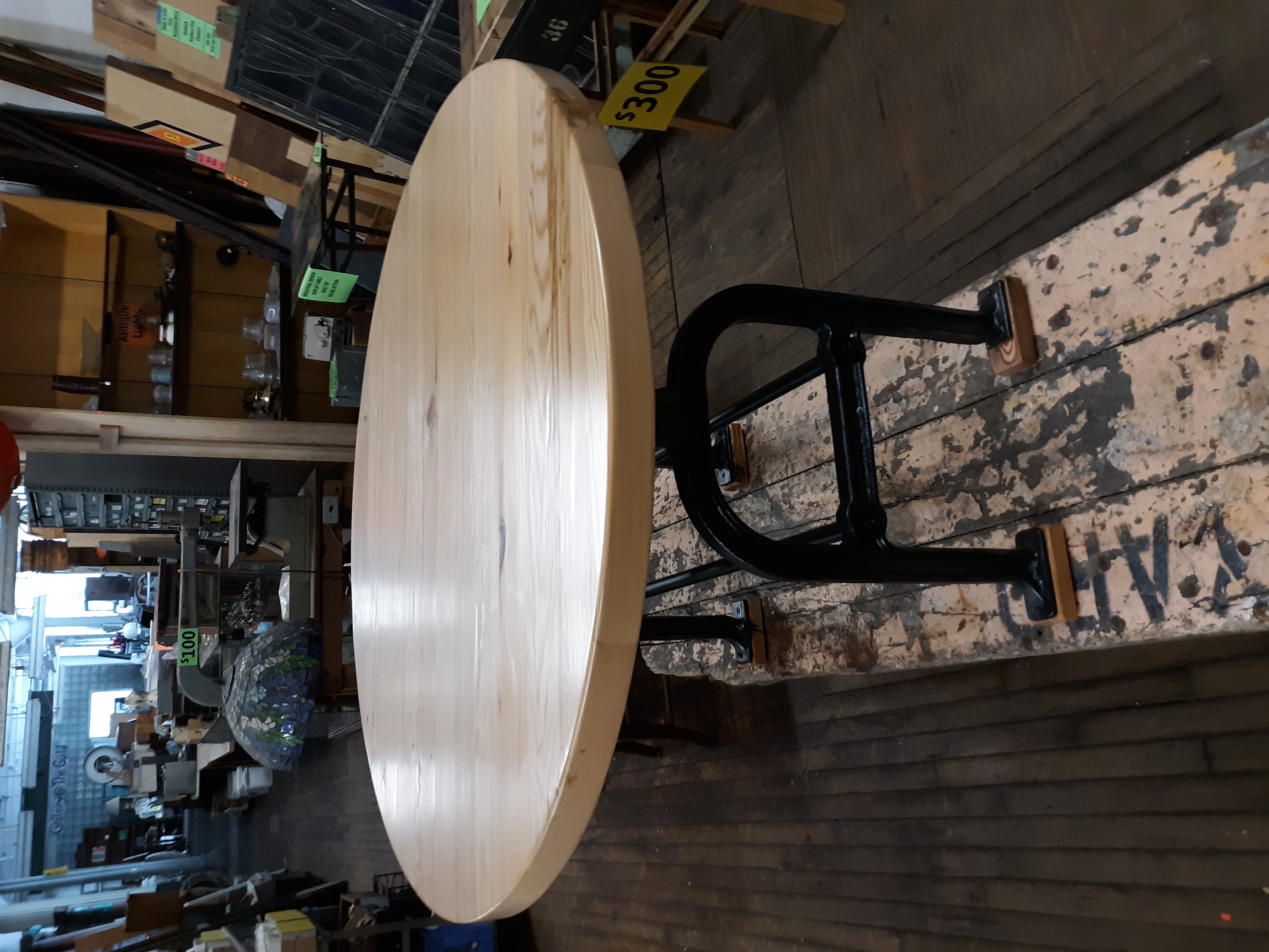 Circular Hemlock Table Aug 2019