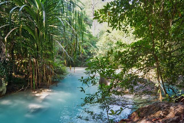 Pool of Erawan waterfalls in Kanchanaburi province, Thailand