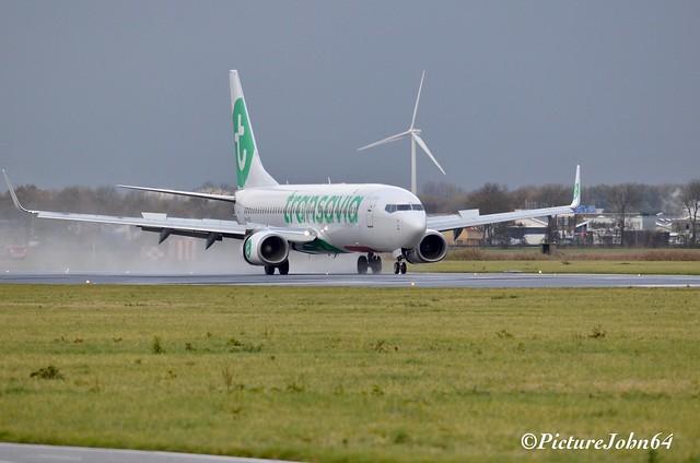 HV6412 Transavia Boeing 737 (PH-HZD) from Naples Napoli arriving at Schiphol Amsterdam