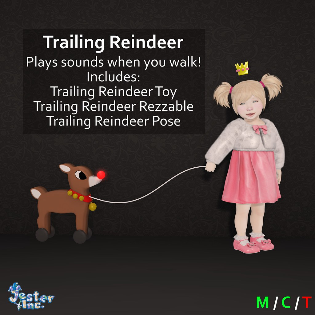 Presenting the new Trailing Reindeer from Jester Inc.