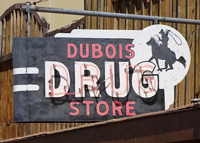 WY, Dubois-U.S. 26 Dubois Drug Store Neon Sign