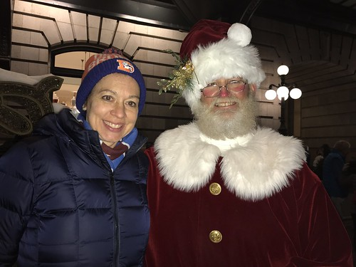 Me and Santa at Union Station, Downtown Denver