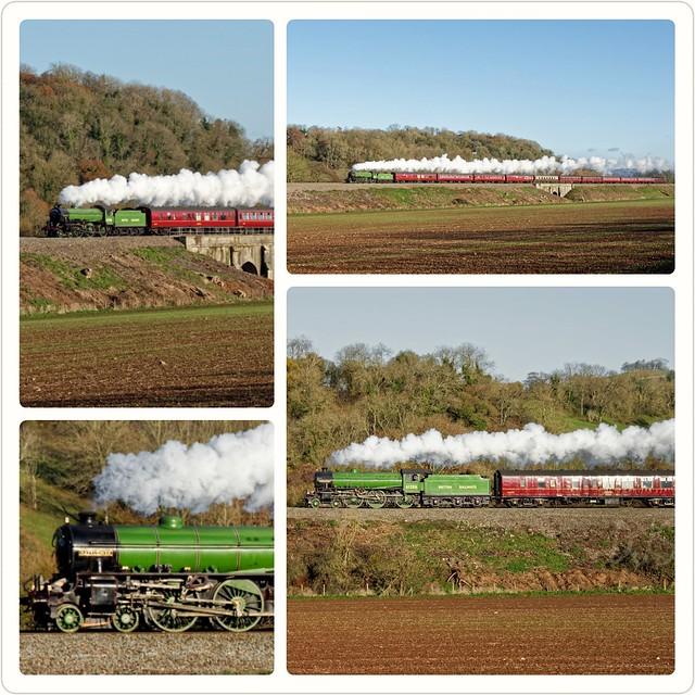 Mayflower 61306 steam train heads away from the @bathxmasmarket in glorious Autumn sunshine  @On_Train #steamtrain #railway #FridayFeeling #Christmas #visitbath #bathspa
