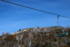 View from Snowgums Chairlift to Kosciuszko Express chairlift