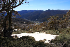 Looking back down the valley to Thredbo, NSW
