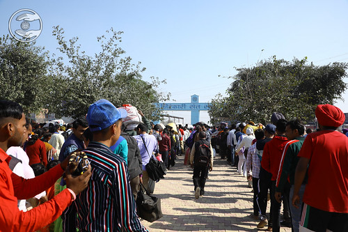Arrival of devotees at Samagam