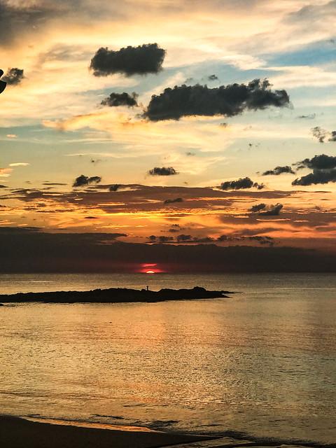 Sunset in kao lak thai