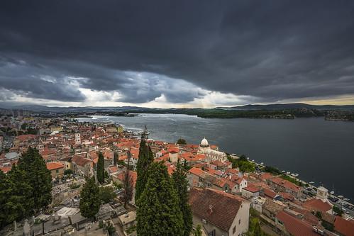 sibenik cloudscape clouds view adriatic sea cathedral oldtown mood sizuneye sonyfe1635mmf28gm sony7rm2 sony