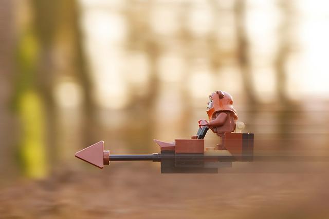 LEGO Ewok Wicket and Speeder Bike