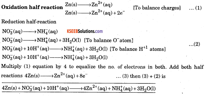 1st PUC Chemistry Question Bank Chapter 8 Redox Reactions - 78
