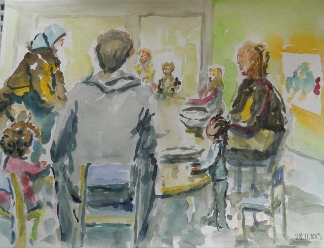 Bébébul ,atelier cuisine à la crèche
