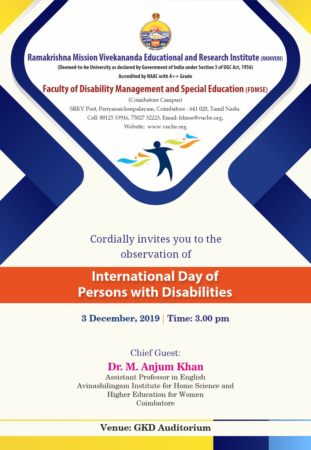 FDMSE - Invitation - International Day of PwD - Front