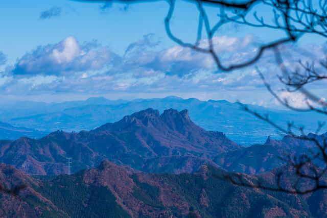 妙義山と赤城山