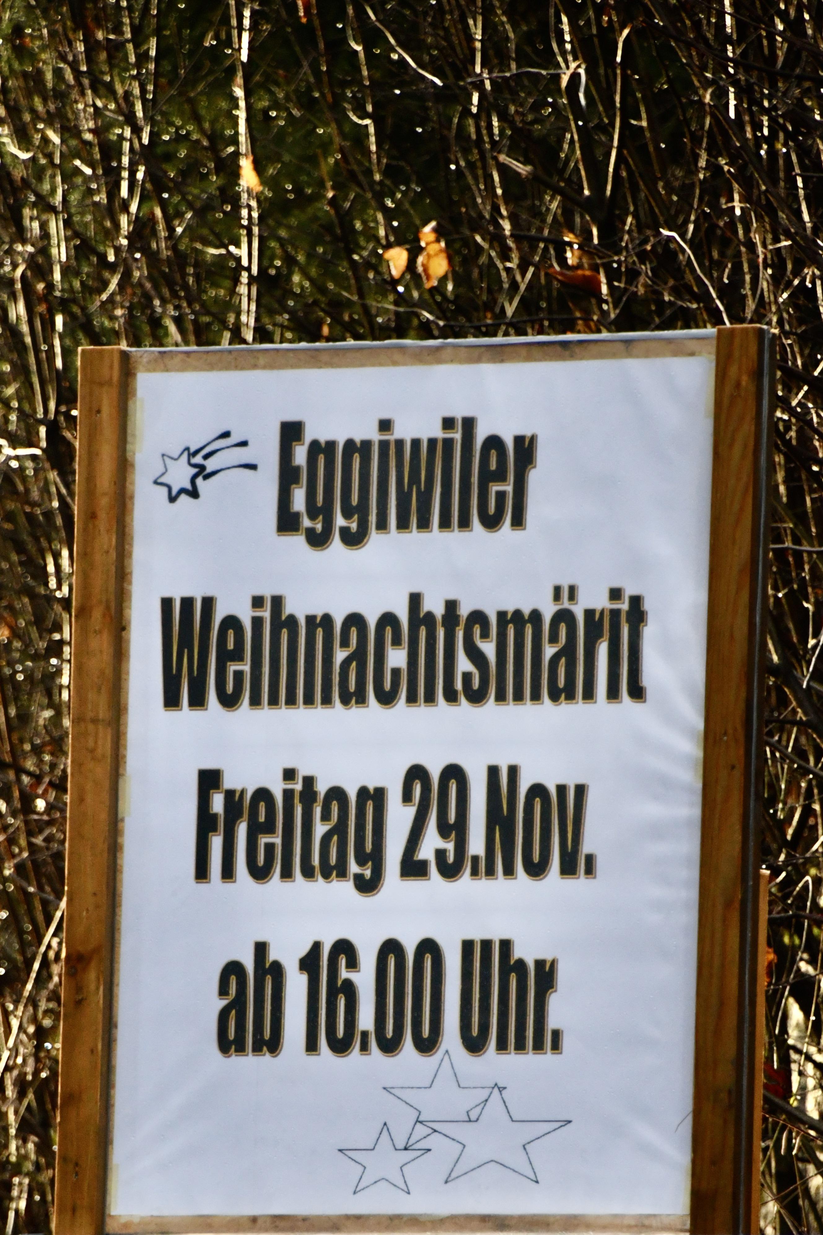 Weihnachtsmärit Eggiwil 29.11.2019