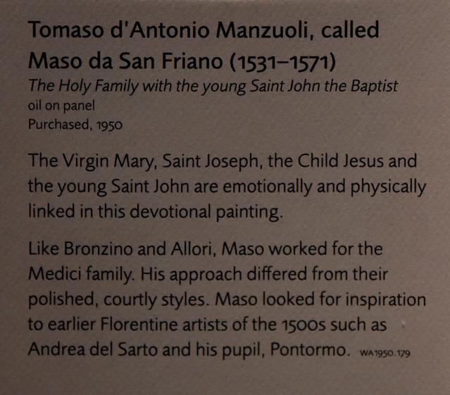 Oxford, Ashmolean Museum, Holy family with saint John the baptist / Manzuoli, info