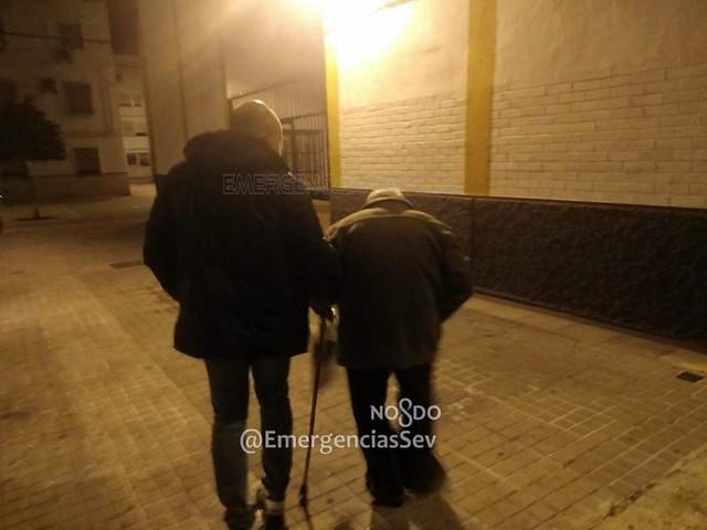 Anciano desorientado en Sevilla