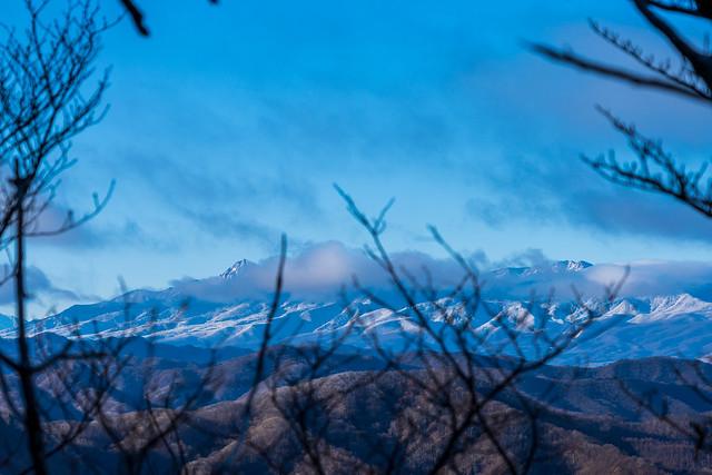 八ヶ岳連峰は雲・・・