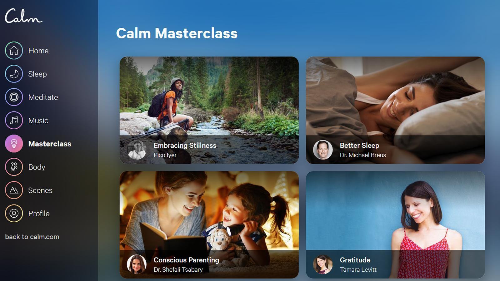 Calm - Masterclass