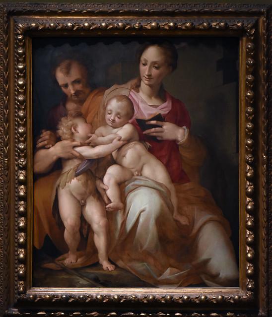 Oxford, Ashmolean Museum, Holy family with saint John the baptist / Manzuoli
