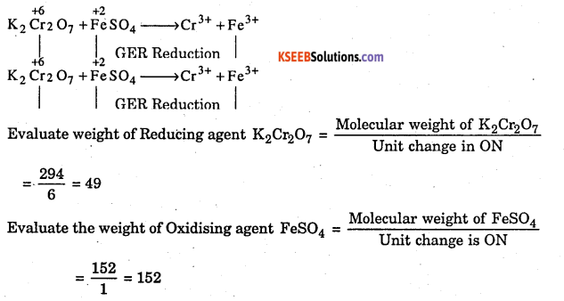 1st PUC Chemistry Question Bank Chapter 8 Redox Reactions - 30