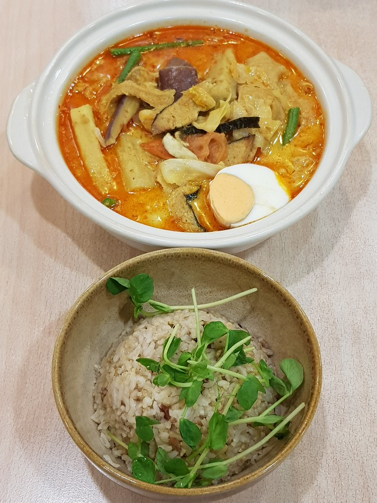 豆奶咖喱饭 Soy Milk Curry Pot w/Multigrain Rice rm$18.90 & 苹果酵素 Apple Cider Enzymes @ BMS Organics USJ10