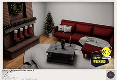 {YD} Simple Christmas Living Room ♥