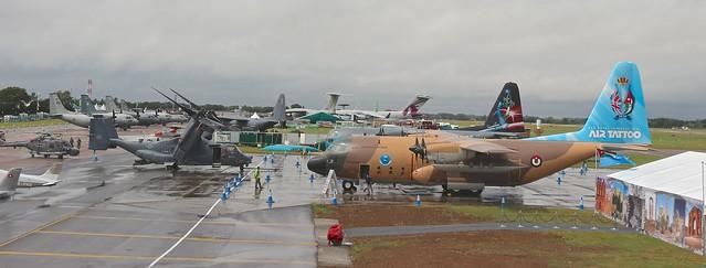 Riat 2019-Air Tattoo. Aviones militares de transporte y de repostaje en vuelo.