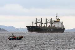 The Liberian registered bulk carrier Cielo Di Capalbio, IMO 9595151; Firth of Clyde, Scotland