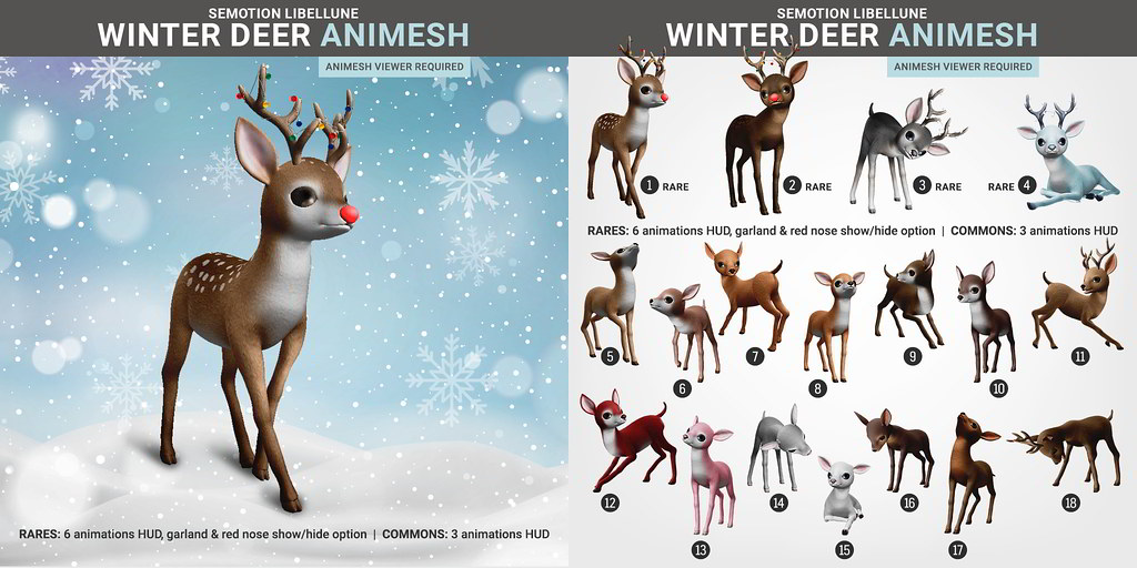 SEmotion Libellune Winter Deer Animesh (Companion version)