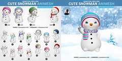SEmotion Libellune Cute Snowman Animesh (Shoulder version)