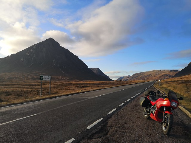 K75 winter ride to Strontian