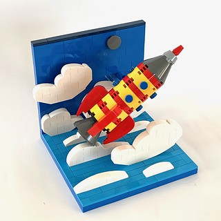 Vintage space rocket toy vignette | by barneius industries