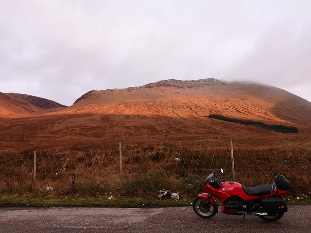 K75 winter ride to Strontian.