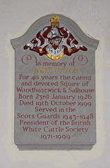 For 40 years the caring and devoted Squire of Woodbastwick & Salhouse