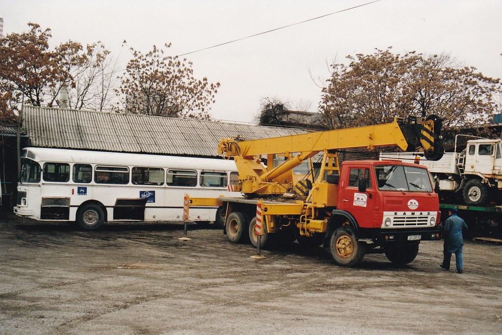 KamAZ-4310 Crane Truck 6x4 Zagreb Croatie Hrvatska 1997a