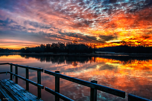 lake bucks county pennsylvania sunrise fire