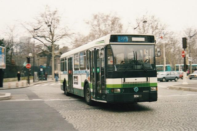 RATP Renault SC10R 3234 Place Valhubert - Quai d'Austerlitz Paris 13ème 1993a