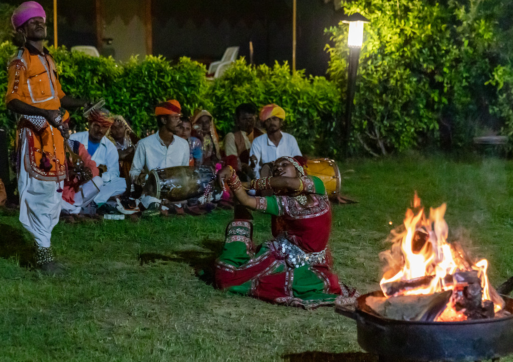 Folk dance in Pushkar Fair