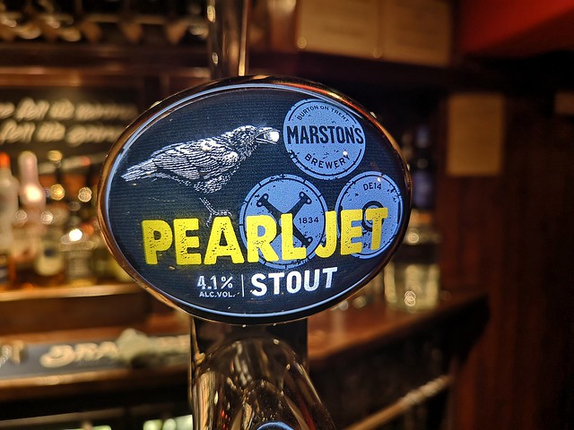 Pearl Jet Stout. Marston's Brewery, Burton upon Trent.