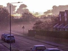 Foggy in Drapers Lane, Hedon.