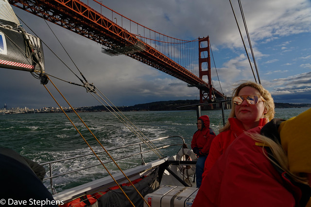 Passing Under Golden Gate