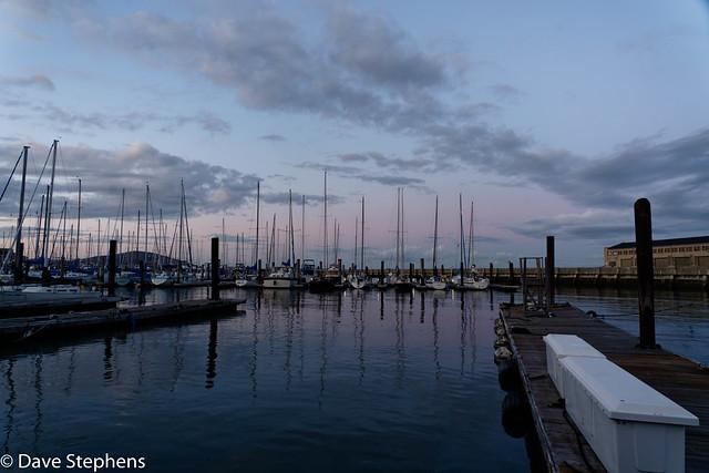Pier 39 Marina At Sunset