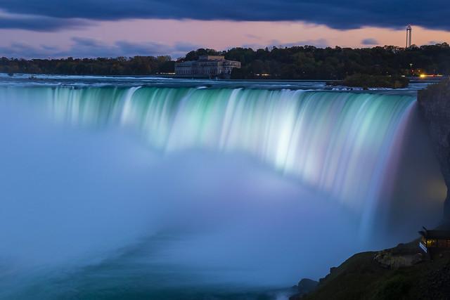 Horseshoe Fall at dusk, Niagara Falls, Ontario, Canada