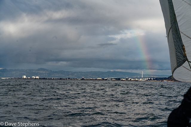 Headed Toward A Rainbow And The Bay Bridge