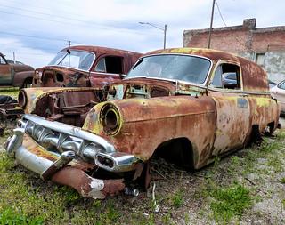 Two Rusty Chevrolet Sedan Delivery Panel Vans Taken On Rou Flickr