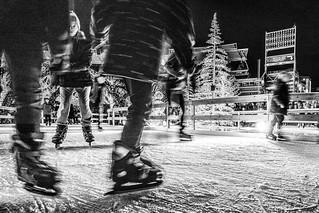 Skating at Nationals Park