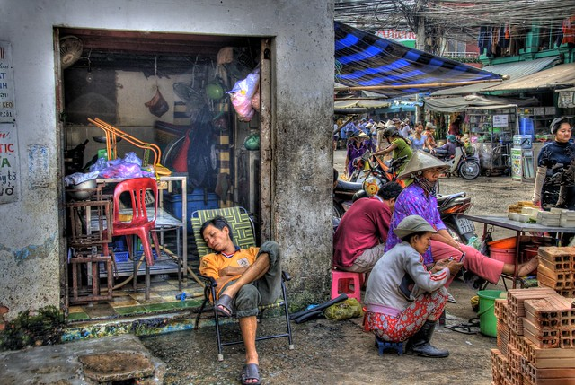 Saigon. Market place