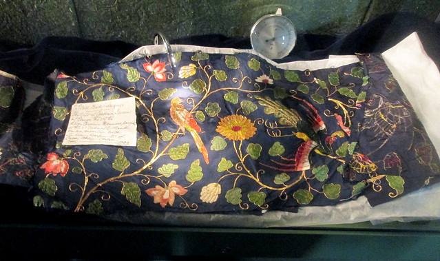 Chinese silk, Calke Abbey
